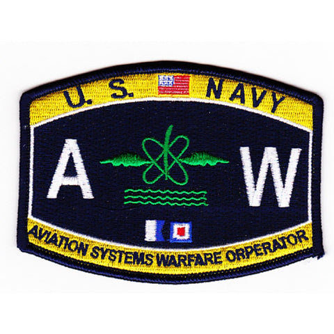 AW - Aviation Systems Warfare Operator Navy Rating Patch