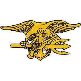 United States NAVY SEAL Trident Patch - Gold
