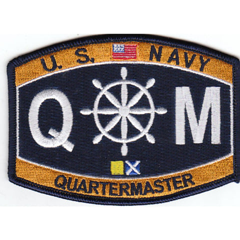 QM - Quartermaster Navy Rating Patch