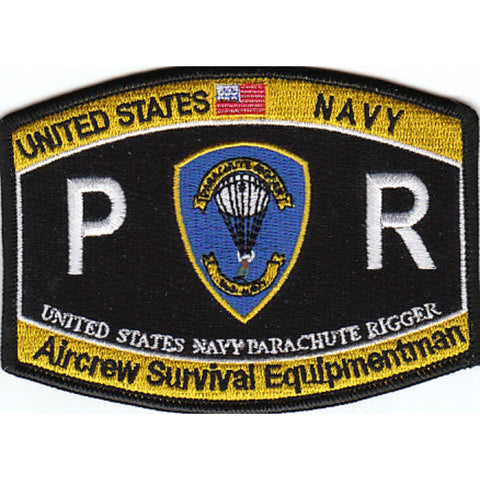PR - Parachute Rigger Navy Rating Patch - Aircrew Servival Equipment