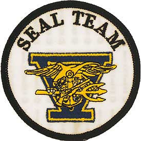 US Navy SEAL TEAM 5 Five Patch - Version B
