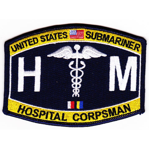 HM - Hospital Corpsman Submariner Rating Patch