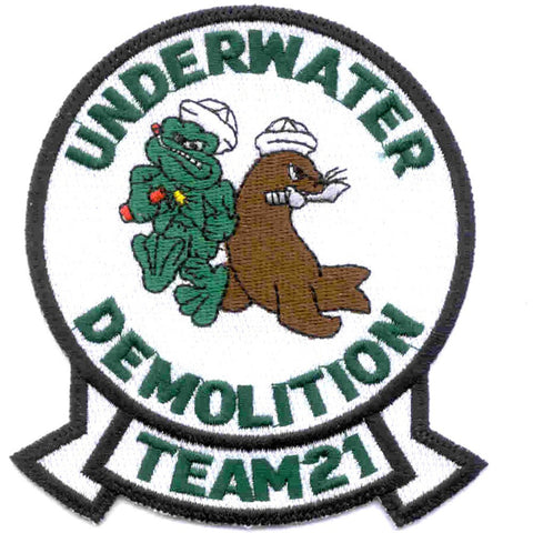 UDT 21 Naval Underwater Demolition Team Patch