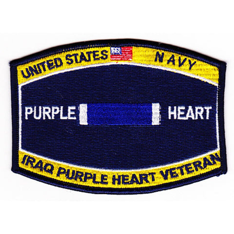 Combat Wounded Rating Badge Of Military Merit Purple Heart Patch Iraq Veteran Patch