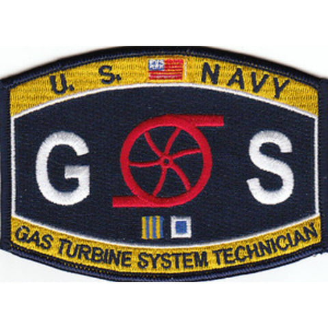 GS - Gas Turbine System Technician Navy Rating Patch