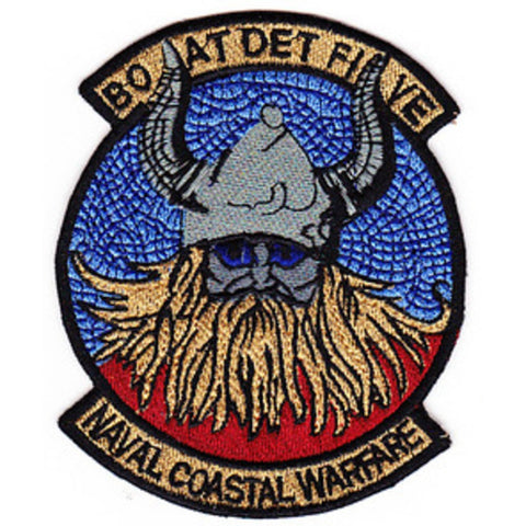 Boat Det 5 Naval Coastal Warfare Patch