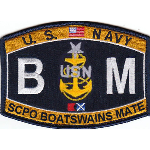 BM Senior Chief Boatswain's Mate Navy Ratign Patch - SCPO