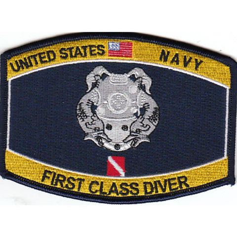 First Class Diver Navy Rating Patch