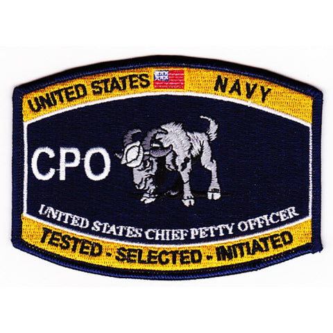 CPO GOAT LOCKER Chief Petty Officer Navy Rating Patch