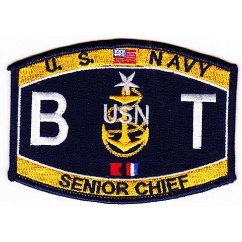 BT SENIOR CHIEF BOILER TECH NAVY RATING PATCH - BTCS