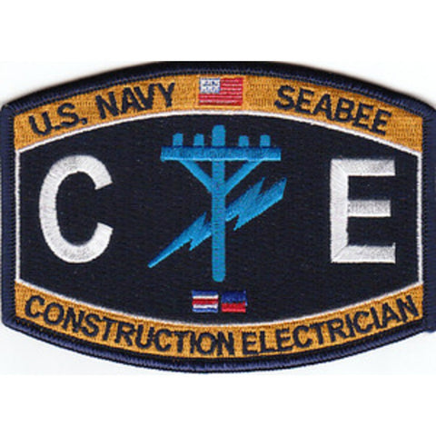 CE - Construction Electrician Navy Seabee Rating Patch