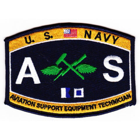 AS - Aviation Support Equipment Technician Navy Rating Patch