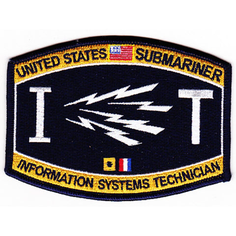 IT - Information Systems Technician Submariner Rating Patch