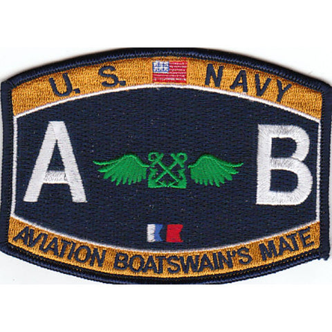 AB - Aviation Boatswain's Mate Navy Rating Patch