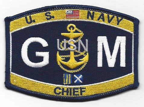 GM Chief Gunner's Mate Navy Rating Patch