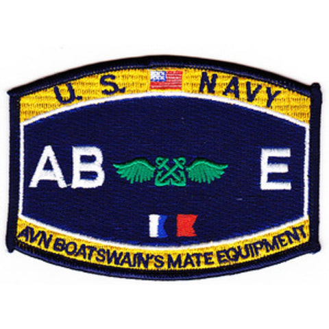 AB E - Aviation Boatswain's Mate Equipment Navy Rating Patch