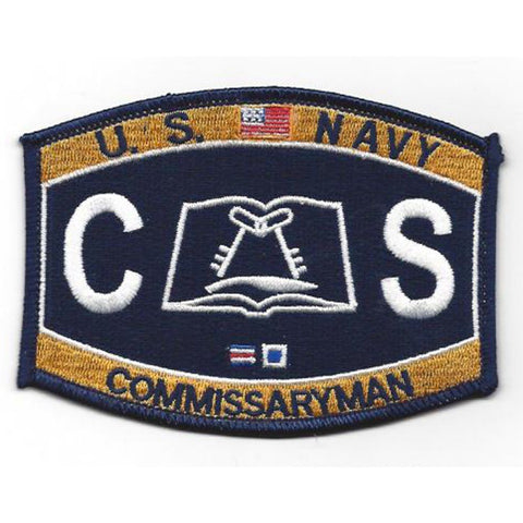 CS - Commissaryman Navy Rating Patch