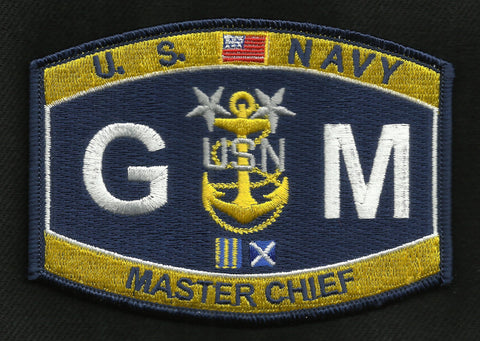 GMCM Master Chief Gunner's Mate Navy Rating Patch