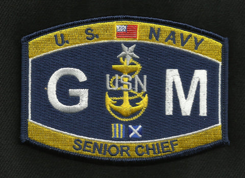GMCS Senior Chief Gunner's Mate Navy Rating Patch