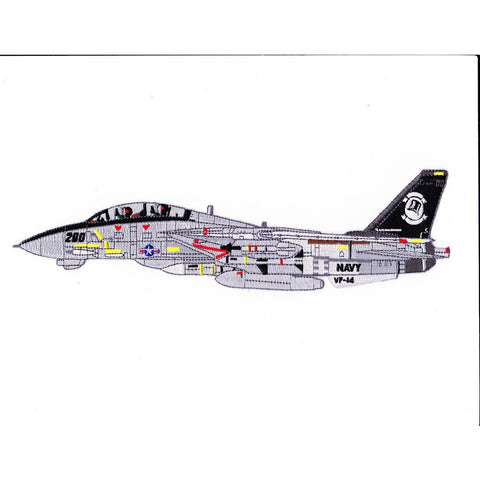 F-14B Tomcat VF-14 Detailed Sideview Patch Tophatters