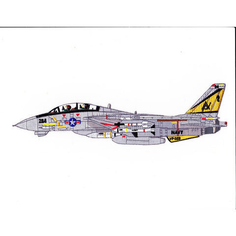 F-14B Tomcat VF-302 Stallions Back Patch Detailed Sideview