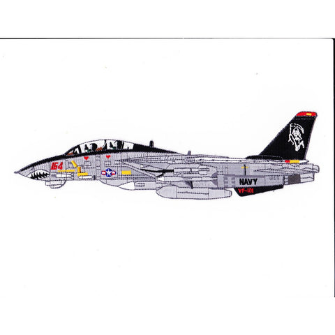 F-14B Tomcat VF-101 Detailed Sideview Patch Grim Reapers