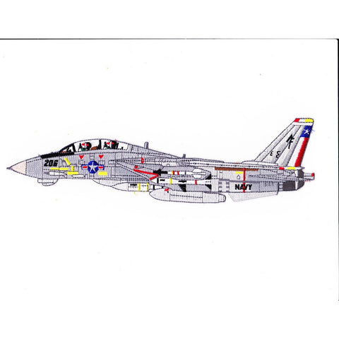 F-14B Tomcat VF-202 Detailed Sideview Patch Superheat