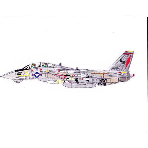 F-14B Tomcat VF-191 Detailed Sideview Patch Satan's Kittens