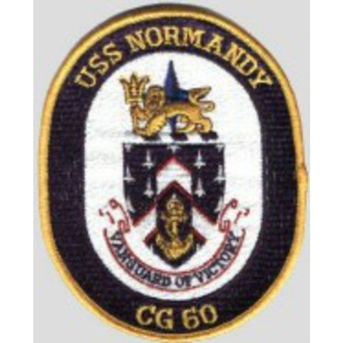 CG-60 USS Normandy Ship Crest Patch
