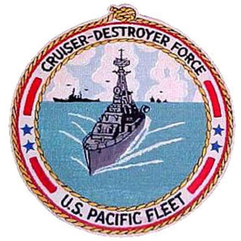 Cruiser Destroyer Force Pacific Fleet ship Patch - Version B
