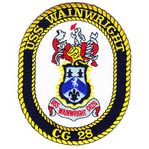 CG-28 USS Wainwright ship Patch