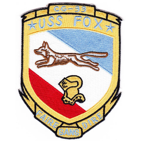 CG-33 USS Fox ship Patch