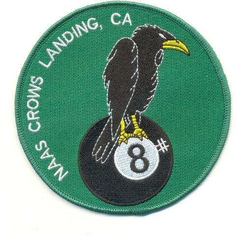 NAAS Crows Landing California Naval Auxiliary Air Station Patch Eight Ball