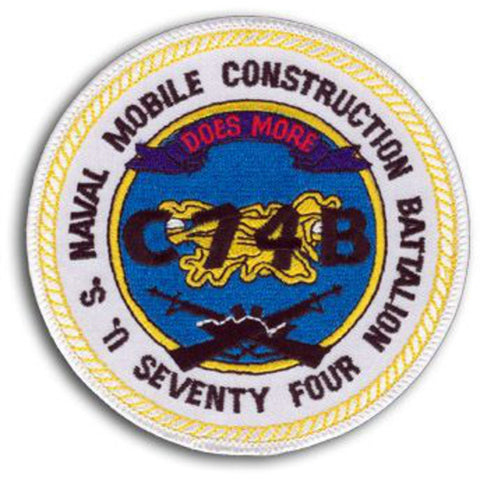 NMCB 74th Naval Mobile Construction Battalion Patch C74B
