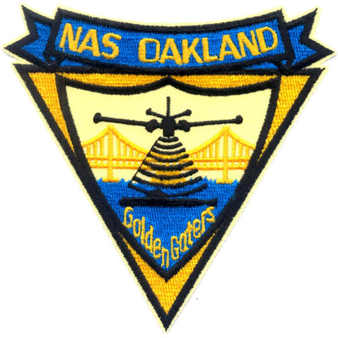 NAS Oakland California Naval Air Station Patch - Golden Gaters