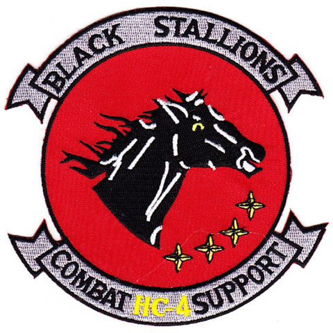 HC-4 Helicopter Combat Support Squadron Military Patch BLACK STALLIONS