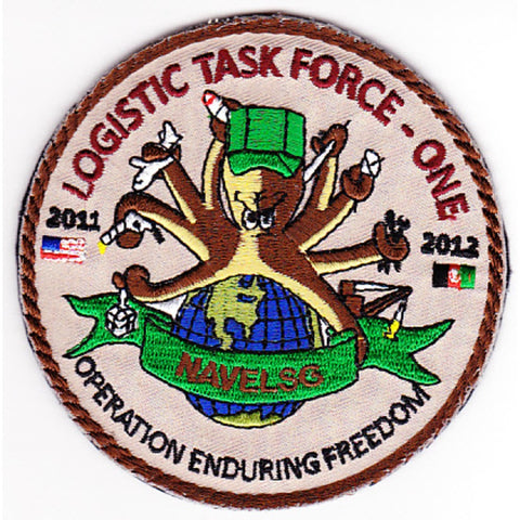 Logistic Task Force One Navelsg Patch OEF 2011-2012 Velcro
