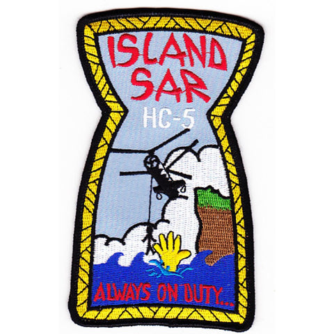 HC-5 Helicopter Combat Support Squadron Military Patch ISLAND SAR ALWAYS ON DUTY