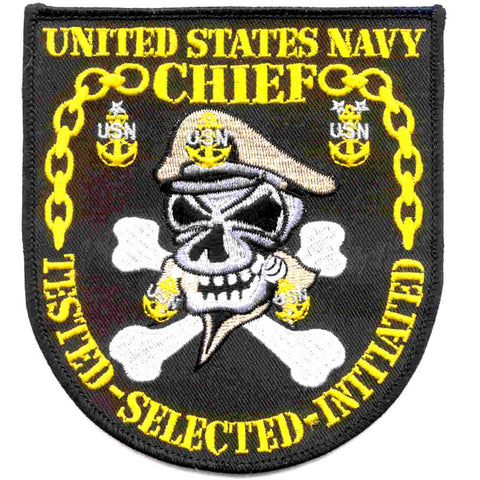 United States Navy Chief Patch TESTED SELECTED INITIATED