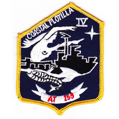 COASTAL FLOTILLA IV Advisory On Vietnamese AT 159 Military Ship Patch