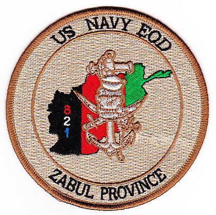EOD Explosives Ordinance Disposal Zabul Province 821 Patch
