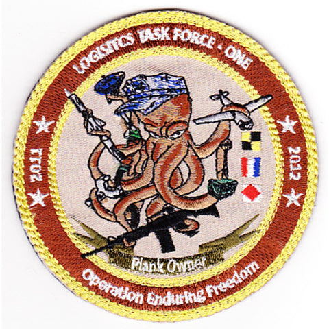 Logistic Task Force One Navelsg Plank Owner Patch OEF 2011- 2012 Velcro