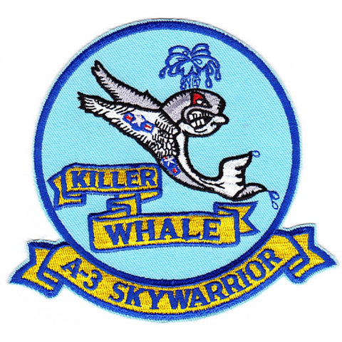 Douglas A-3 Skywarrior Patch Killer Whale - Blue