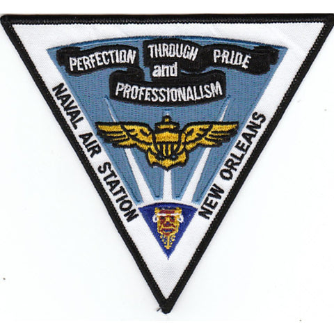 NAS New Orleans Louisiana Naval Air Station Patch Perfection Through Pride and Professionalism