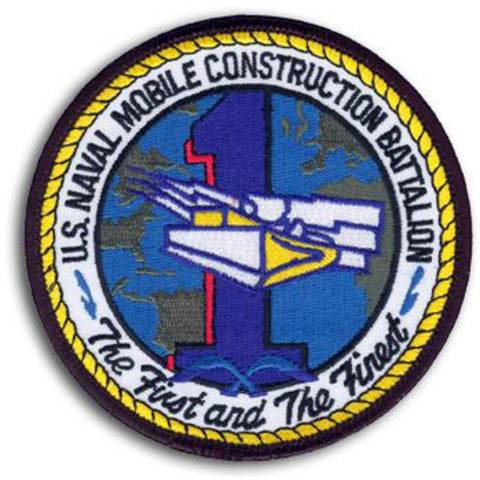 NMCB - 1st Naval Mobile Construction Battalion Patch
