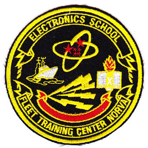 Fleet Training Center Electronics School Norva Norfolk Vaginia Patch