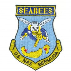NAS Bermuda Naval Air Station Patch Seabees