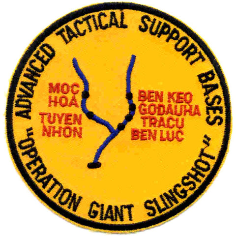 ATSB Advanced Tactical Support Base Military Patch Operation Giant Slingshot