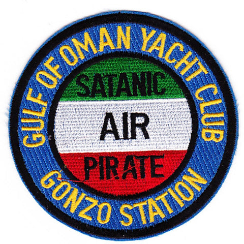 Gulf Of Oman Yacht Club Gonzo Station Patch - SATANIC AIR PIRATE