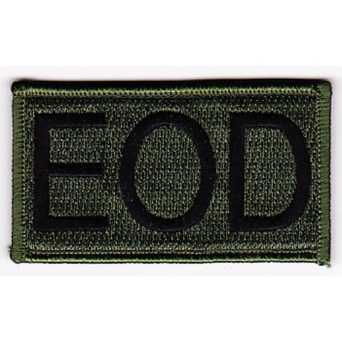 EOD - Explosive Ordnance Disposal Tab Velcro Patch - OD Green
